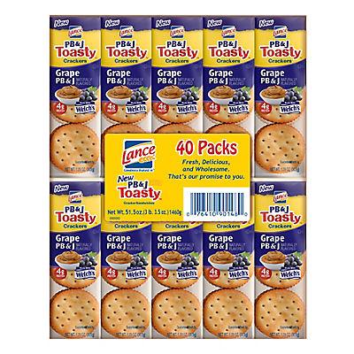 Lance PB&J ToastyCrackers, 40 ct.