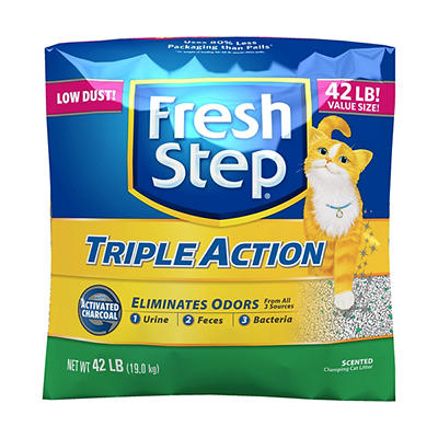 Fresh Step Triple-Action Cat Litter, 42 lbs.