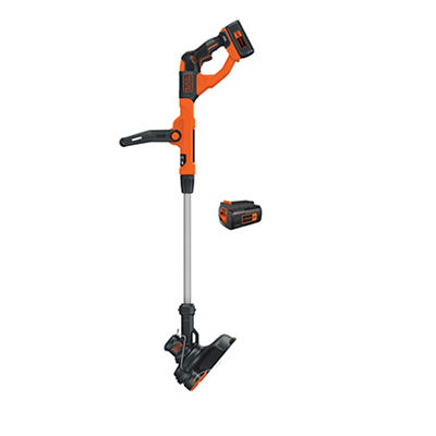 "Black & Decker 40V 13"" Cordless String Trimmer with 2 Batteries"