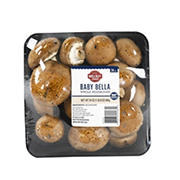 Wellsley Farms Fresh Baby Bella Whole Mushrooms, 24 oz.