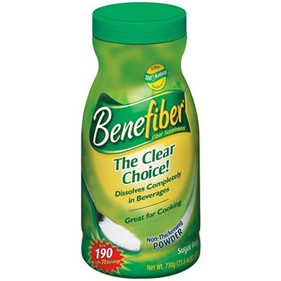 Benefiber Powder Fiber Supplement, 190 ct./25.6 oz.