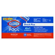Clorox Pool & Spa Shock Plus, 12 pk./1 lb.