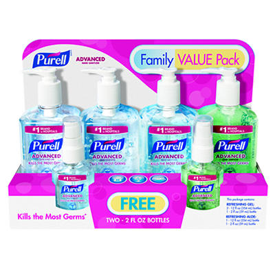 Purell Instant Hand Sanitizer Value Pack with 38 Fl. oz. Original Form