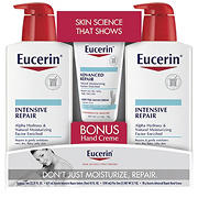 Eucerin Intensive Repair Lotion, 2 pk./21 fl. oz. with Bonus Hand Creme, 2.7 oz.