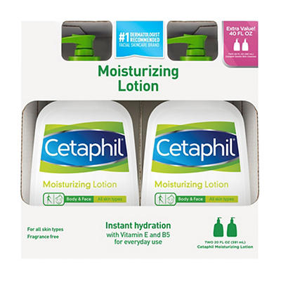 Cetaphil Moisturizing Lotion, 2 pk./20 fl. oz.