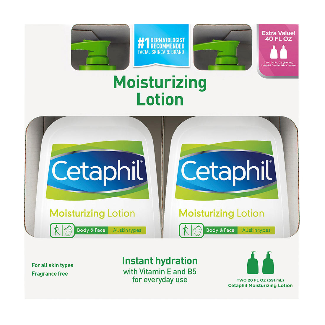 photo relating to Cetaphil Coupon Printable identified as Cetaphil Moisturizing Lotion, 2 pk./20 fl. oz.