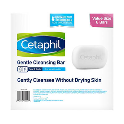 Cetaphil 4.5-oz. Gentle Cleansing Bar, 6 pk.