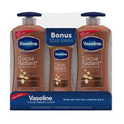 Vaseline Intensive Repair Cocoa Radiant Body Lotion, 2 pk./20.3 fl. oz. with Bonus Bottle, 10 oz.