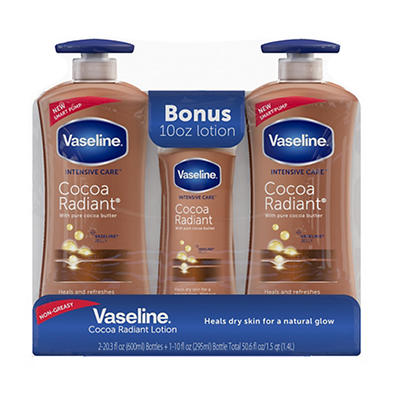 Vaseline Intensive Repair Cocoa Radiant Body Lotion, 2 pk./20.3 fl. oz