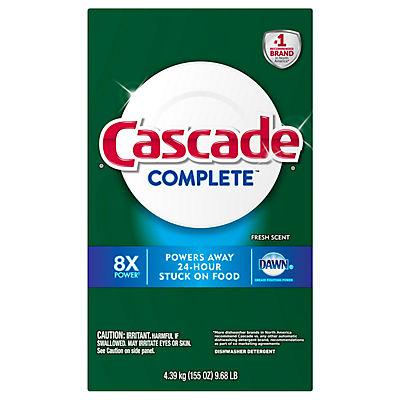 Cascade Complete Powder Dishwasher Detergent, 155 oz.