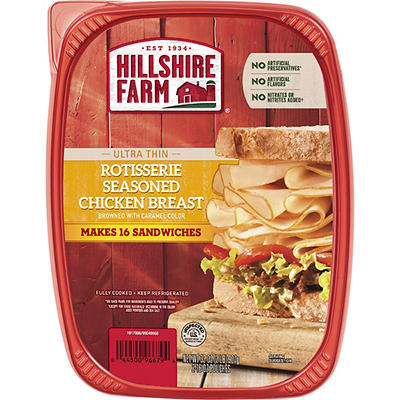 Hillshire Farm Ultra Thin Rotisserie Seasoned Chicken Breast Sliced Lu