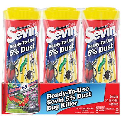 Garden Tech Sevin Ready-To-Use 5% Dust Bug Killer, 3 pk./1 lb.