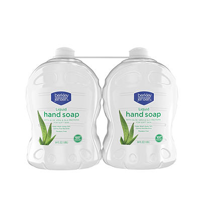 Berkley Jensen Liquid Hand Soap with Aloe Vera, 2 ct./64 oz.