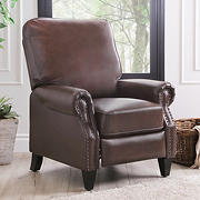 Abbyson Living Clarkson Faux Leather Push-Back Recliner - Brown