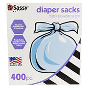 Sassy Diaper Sacks, 400 ct.