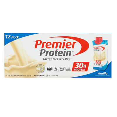Premier Protein Vanilla Protein Shake, 12 pk./11 oz.