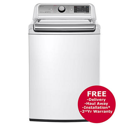 LG 5.2-Cu-Ft. Top-Load Steam Washer - White