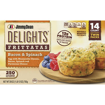 Jimmy Dean Delights Frozen Bacon and Spinach Frittatas, 14 ct.