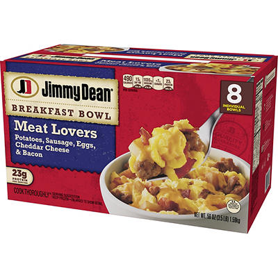 Jimmy Dean Meat Lovers Breakfast Bowl, 8 pk./7 oz.