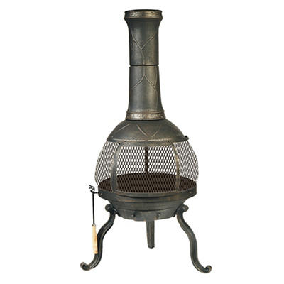 Deckmate Sonora Chimenea - Brushed Gold