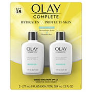 Olay Complete Lotion Moisturizer with SPF 15 Sensitive, 2 pk./12 oz.