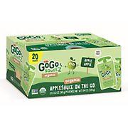 GoGo SqueeZ Organic Applesauce Pouches, 20 ct./3.2 oz.