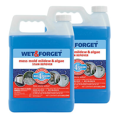 Wet & Forget 0.75-Gal. Stain Remover Concentrate, 2 pk.