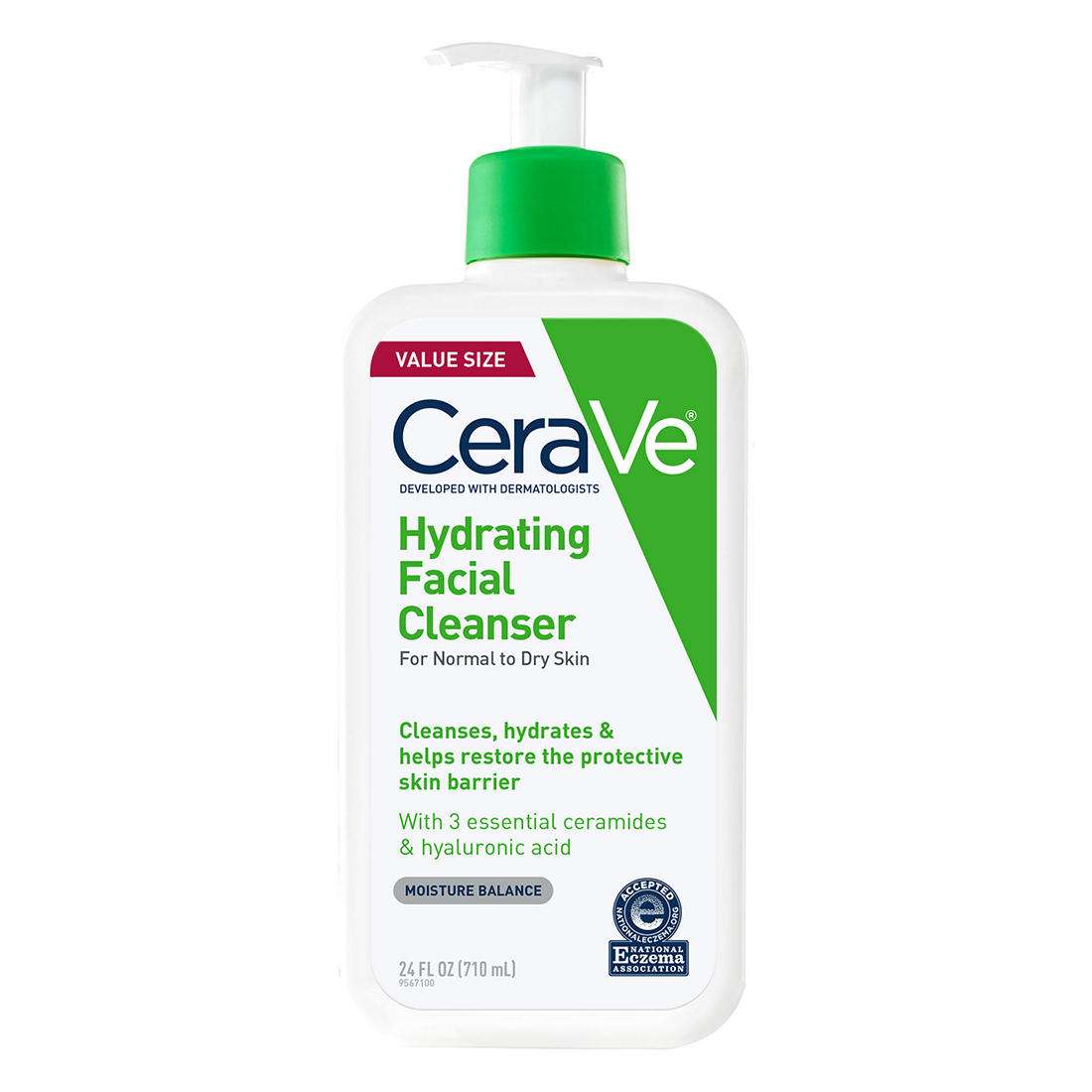 graphic about Cerave Coupons Printable titled Cerave Hydrating Facial Cleanser, 24 oz.