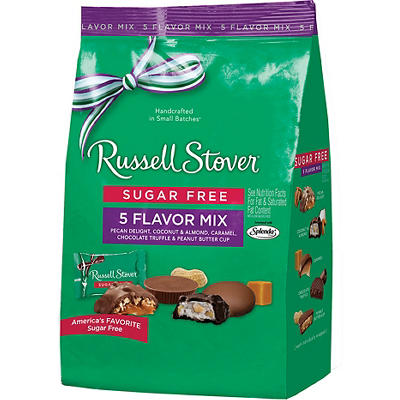 Russell Stover Sugar Free 5 Flavor Bag, 19.7 oz.