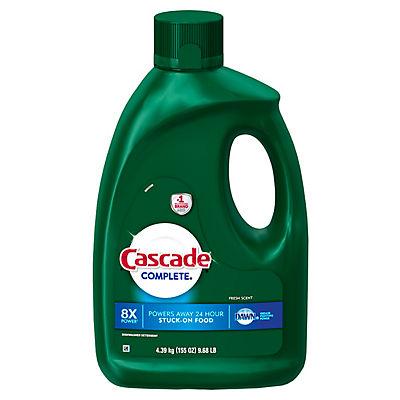 Cascade Complete Gel Dishwasher Detergent, Fresh Scent, 155 oz.