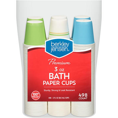 Berkley Jensen Bath Paper Cups, 498 ct.