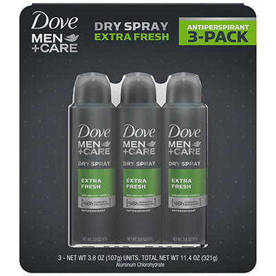 Dove Men+Care Extra Fresh Antiperspirant Dry Spray, 3 pk./3.8oz.