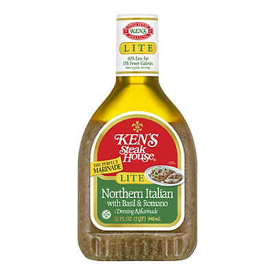 Ken's Steak House Lite Northern Italian Dressing & Marinade, 32 fl. oz