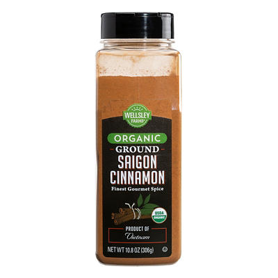 Wellsley Farms Organic Saigon Ground Cinnamon, 10.8 oz.