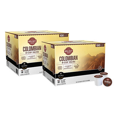 Wellsley Farms Colombian K-Cup Packs, 2 pk./100 ct.