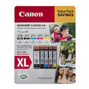 Canon PGI-270XL and CLI-271XL Combo Ink Cartridges, 5 pk.