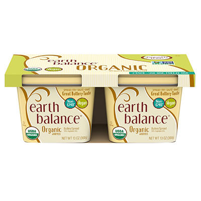 Earth Balance Organic Whipped Buttery Spread, 2 pk./13 oz.