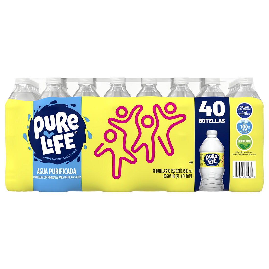 Nestle Pure Life Purified Water, 40 pk /16 9 oz