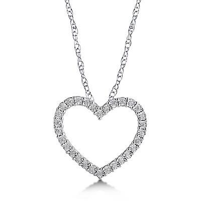 .15 ct. t.w. Diamond Pendant in Sterling Silver