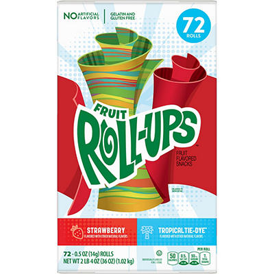 Betty Crocker Blastin' Berry Hot Colors Fruit Roll-Ups, 72 ct.