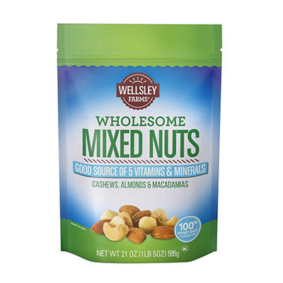 Wellsley Farms Wholesome Mixed Nuts, 21 oz.