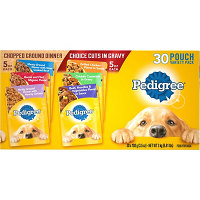 Pedigree Wet Dog Food Variety Pack, 30 pk./3.5 oz.