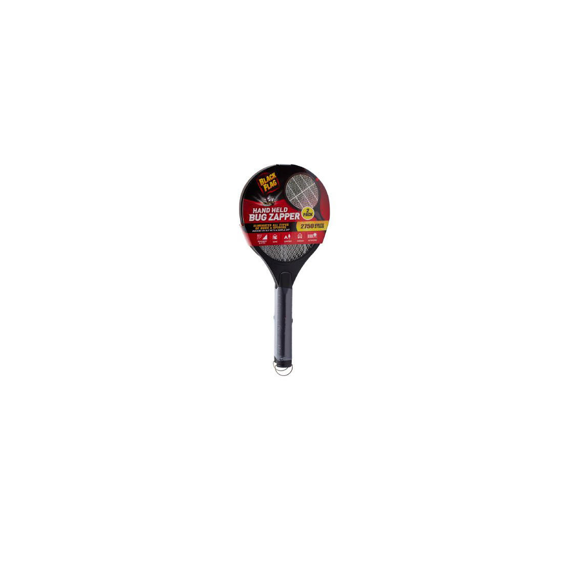 Black Flag Handheld Racket Bug Zappers, 2 pk  - Black