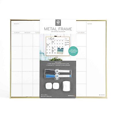 U Brands Calendar Dry Erase Board - Gold
