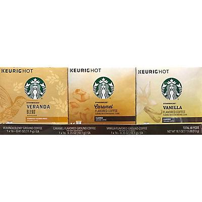 Starbucks Light Roast K-Cup Pods Variety Pack, 3 pk./16 ct.