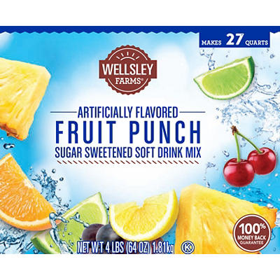 Wellsley Farms Fruit Punch Mix, 2 pk./64 oz.