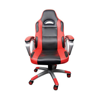 Racing-Style Manager Chair - Red/Black
