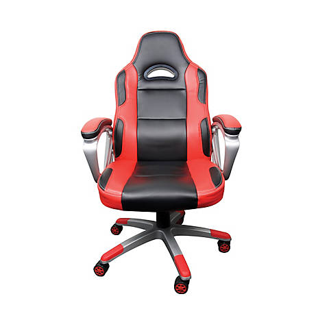 Racing Style Manager Chair Red Black