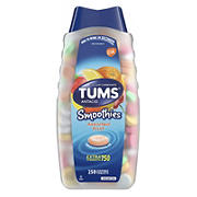 Tums Smoothies Assorted Fruit Flavor Chewable Tablets, 250 ct.