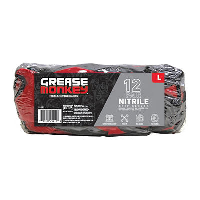 Grease Monkey Nitrile-Coated Work Gloves, 12 pk. - Assorted